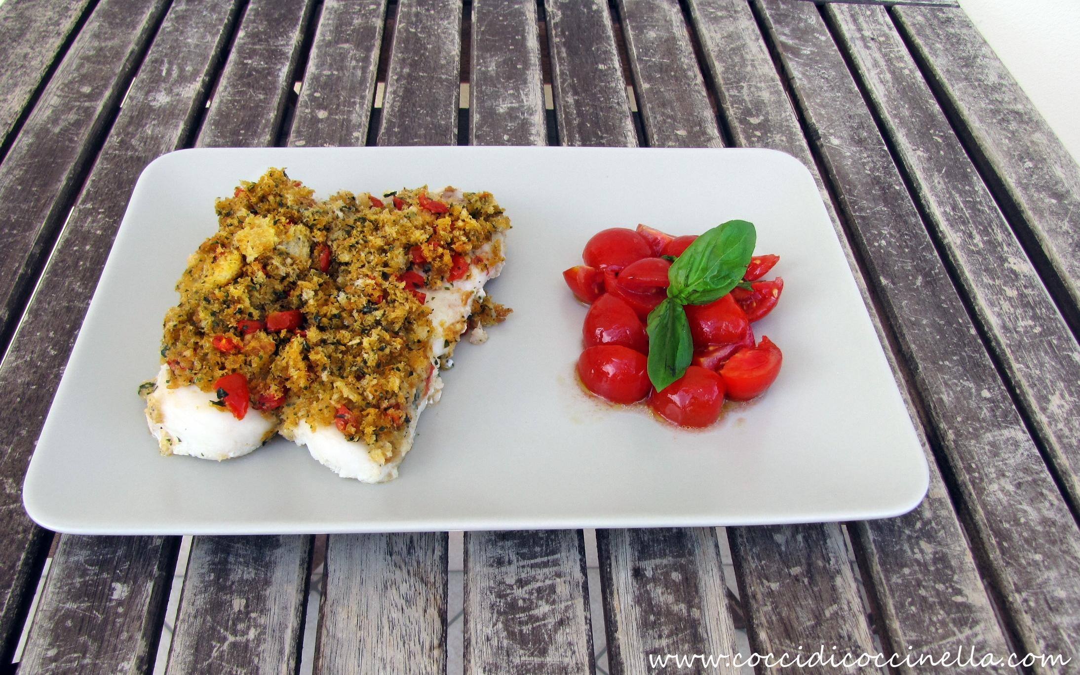 filetti di merluzzo gratinati al pomodoro e basilico-cocci di ... - Cucinare Filetti Di Merluzzo Surgelati