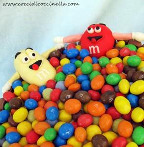 torta m&m's 2