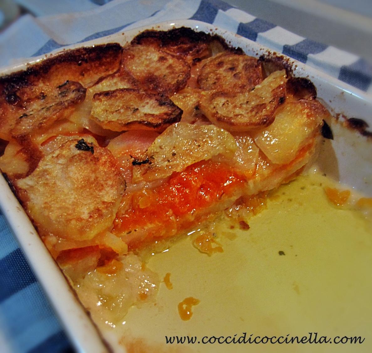 Ricetta Zucca E Patate Al Forno.Zucca E Patate Al Forno Ricetta Cocci Di Coccinella
